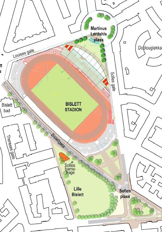 bislett kart Bislett Stadion   bevaring   riving   bislett kart